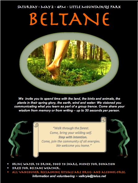 Beltane Poster-Vancouver Reclaiming
